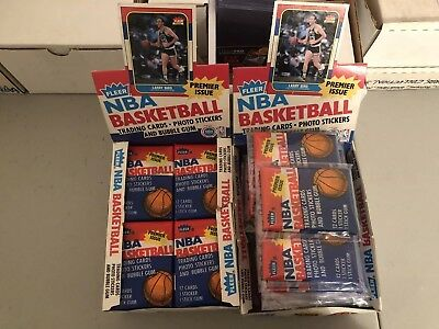 1986-87 Fleer Basketball Wax Pack From Box Barkley Jordan Malone Rookie? Sticker