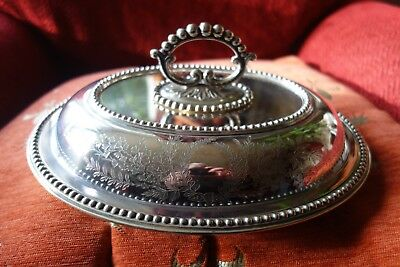 Vintage Silver Plated Tureen - Serving Dish - Atkin Brothers