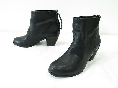 a81f18e6798ca2 Sam Edelman Larkin Booties Womens 6 Black Leather Back Zip Mid Heel Ankle  Boots promo code ...