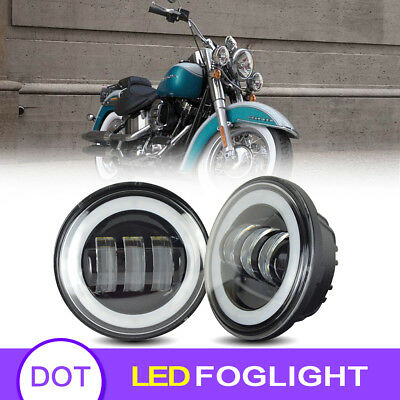 For Harley Motorcycle 4.5 Inch LED Fog Light Driving Lights Passing Lamp