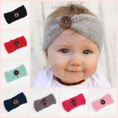Winter Warm Baby Girl Toddler Headband Crochet Knitted Hairband Head Wrap