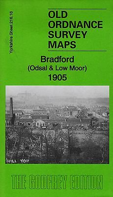 Old Ordnance Survey Map Bradford (Odsal & Low Moor 1905)