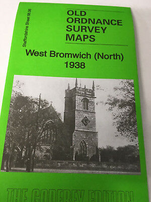 Old Ordnance Survey Map West Bromwich North 1938