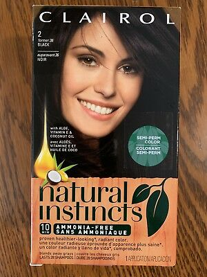 Clairol Black 2 Natural Instincts Hair Color New Sealed Semi Perm