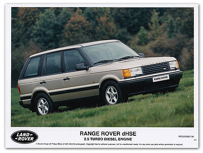 Range Rover dHSE 2.5 Turbo Diesel Engine P38 Press Release Photograph