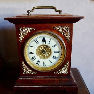 JUNGHANS Carriage Alarm Clock - Germany with Musical Movement alarm - RUNNING