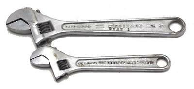 "2 Craftsman Crescent Wrench 6"" & 8"" Adjustable Wrenches Made in USA Used"