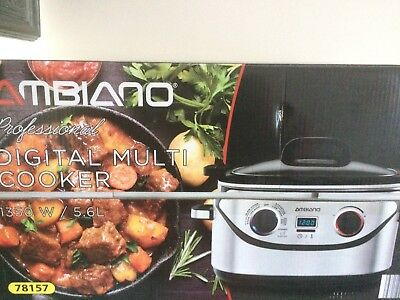 PROFESSIONAL DIGITAL MULTI COOKER 1350w / 5.6L WITH WARRANTY NEW AND BOXED