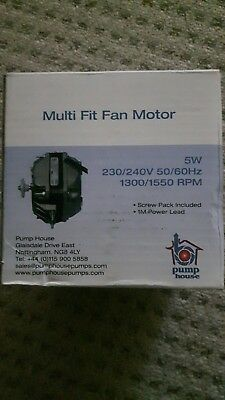 Pump House 5w multifit motor with 1m lead. Refirgeration and air conditioning.