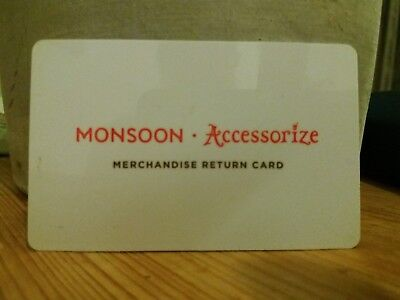 Monsoon accessorize gift card voucher with £248.80 balance -registered post only