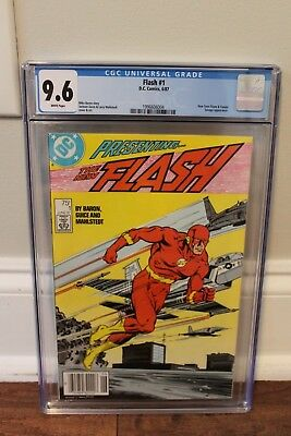 Flash 1 - 1st Appearance of Wally West - New Flash - CGC 9.6 (NM+) - White Pages