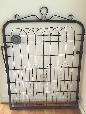 Vintage Sears Gate, Vintage Supply from 1960s. Metal, Galvanized, Wire, Rustic