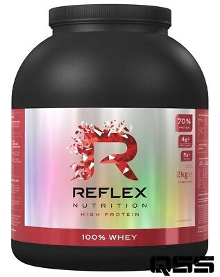 Reflex Nutrition 100% Whey Protein Powder 2Kg Low Sugar / Carb