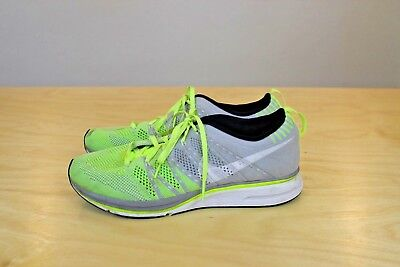 a7c0289a9304 Nike Flyknit Trainer + Running Shoes Men s Size 8.5 2012 Gray Volt 532984 -714