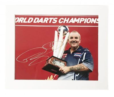Signed Phil Taylor Photo Display - World Darts Champion + *Certificate*