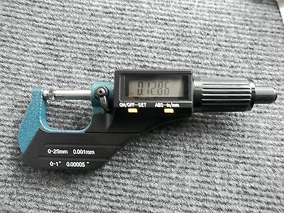 """Digital Electronic Outside Micrometer High Precision 0-1""""/0.00005"""" X-Large LCD"""