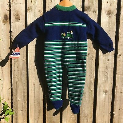 1970s French Vintage Joytime Knitted Romper. Baby Age 6-12 Months.