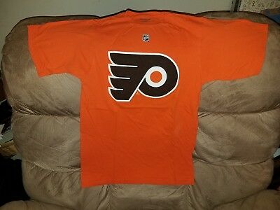 31c2af15d8e Philadelphia Flyers Reebok Official Player SCHENN 10 Jersey T-Shirt Men's  SMALL