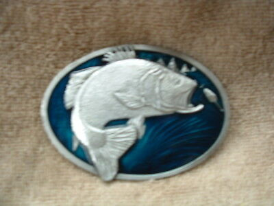 Large Mouth Bass Belt Buckle Hand Made In Usa By The Bergamot Brass Works 1977