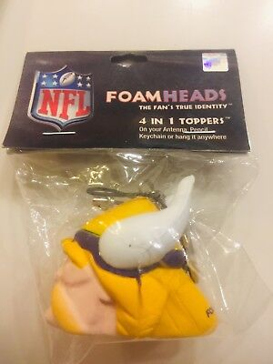 729c655ab51d93 Minnesota Vikings Foamheads 4-in-1 Topper Antenna, Pencil, Keychain or Dash
