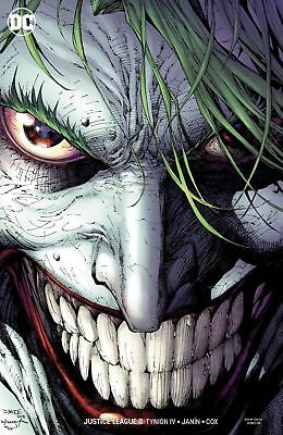 Justice League Issue 8 - Jim Lee Joker Full Art Virgin Variant Cover - Dc Comics