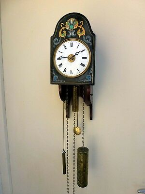 Unusual Black Forest Wall Clock – Grand Sonnerie Striking