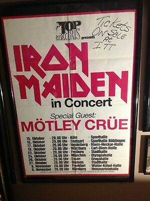 Iron Maiden/motley Crue Very Rare Venue Poster 1983.