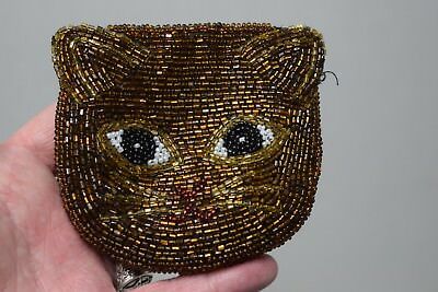 Sakura Beaded Cat Coin Purse