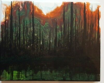 Original Painting Abstract Acrylic on Canvas Cedar Breaks Utah Forest Inspired