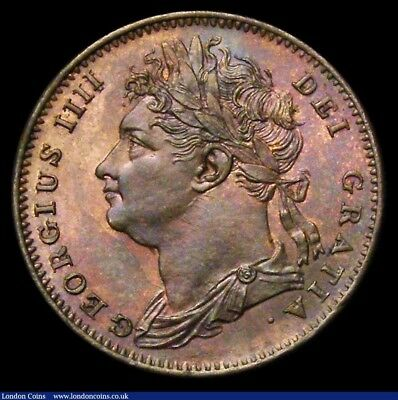 1825 George IV Farthing CGS Slabbed coin