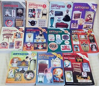 Lot 11 Schroeder's Antiques Price Guide Book 1989 through 2002