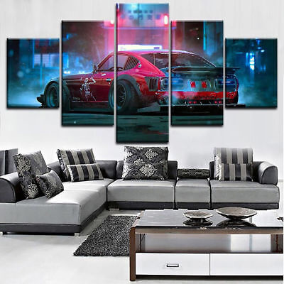 5 Pieces Framed DATSUN 280Z living room Home Decorative Wall Art Unique Poster