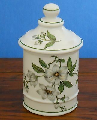 Lidded pot with floral pattern