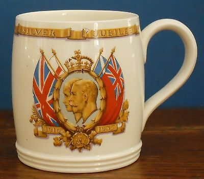 A George V and Mary 1935 Silver Jubilee Mug By Adams for Northumberland E C