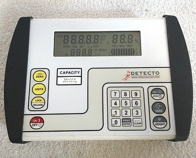 Detecto Scale 758C Digital Weight Indicator Display, 600LBS Calibrated.