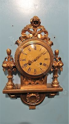 Gilded Wooden Westerstrand Baroque Wall Clock