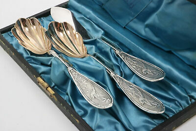 Whiting Japanese Sterling Silver Shell Spoons & Master Butter Knife 1874