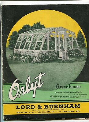 Vintage Advertising Brochure ORLYT GREENHOUSE Lord & Burnham Spring 1950