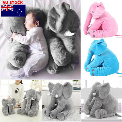 60cm Giant Elephant Doll Stuffed Animal Cushion Baby Sleeping Soft Pillow Toy AU