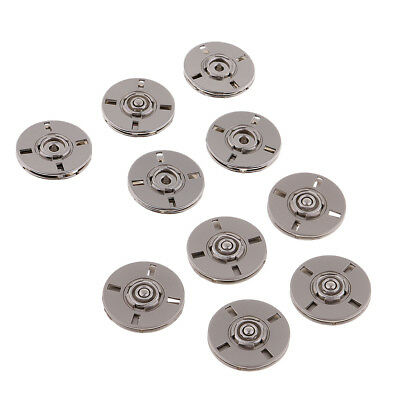 5 Sets Metal Press Stud Snap Button Popper Fasteners for Clothes Jacket Repair