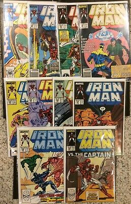 Iron Man lot #s 220 221 222 223 224 225 226 227 228 & 229 ~FN Captain America