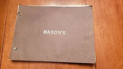 1911 Mason's Catalog tin copper brass iron kitchen industrial oil milk boston ma