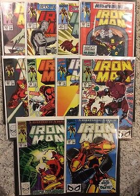 Iron Man lot #s 250 251 252 253 254 255 256 257 258 & 259 ~VG/FN Armor Wars II