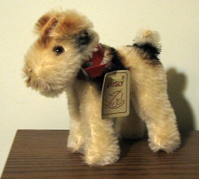 Vintage Mohair  Wire Hair Fox Terrier Made in West Germany by GRISLY