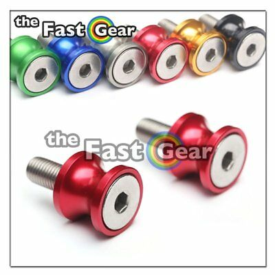 CNC Red Swingarm Spools Kit For Kawasaki ZX-6R 636 13-18 14 15 16 17