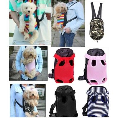 Nylon Mesh Pet Puppy Dog Carrier Backpack Pouch Front Shoulder Sling Carrier Bag