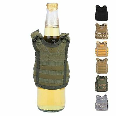 Mini Military Tactic Beer Water Bottle Can Vest Carrier Holder Beverage Cover