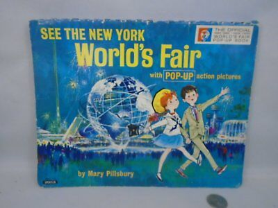 Vintage 1964 See New Yorks Worlds Fair Pop Up Book Mary Pillsbury Complete Nice