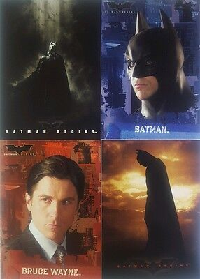BATMAN BEGINS  Trading Card Set of  90 topps  2005 Christian Bale FREE POST