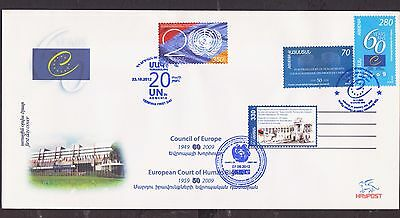 Very Rare Armenia Council Of Europe 3 Issues Uno Flag Coat 2009 2012 Fdc R17325